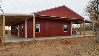 outbuilding construction by 5 starr metal builders in texas