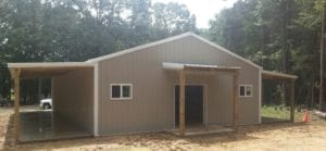 commercial construction and storage by 5 starr metal builders in texas